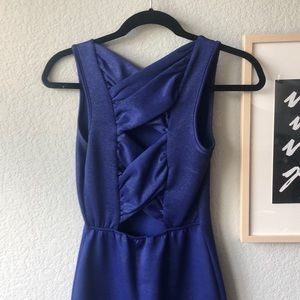 Purple sparkly tight mini dress!